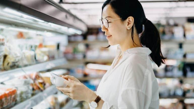 istilah label makanan
