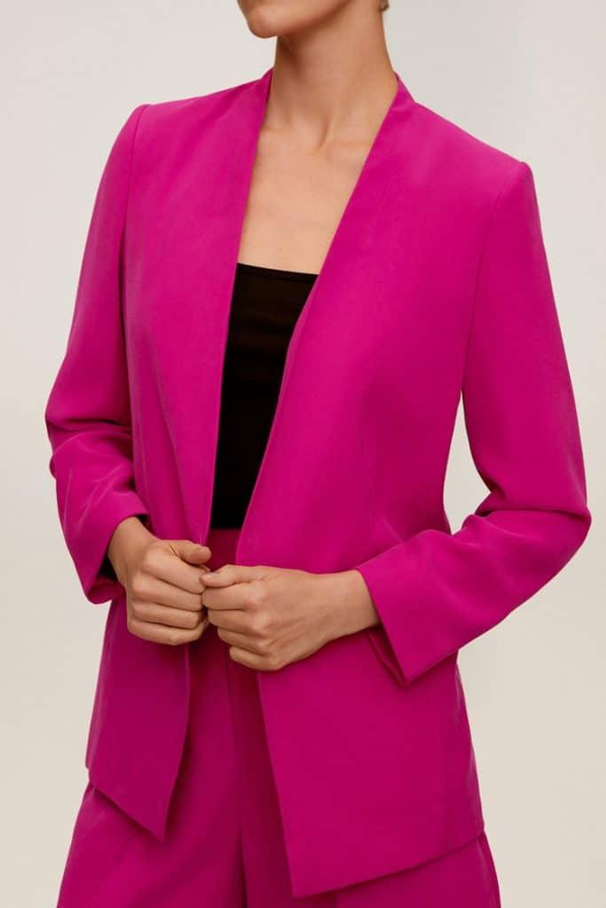 blazer merah muda