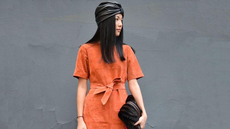 paduan warna orange