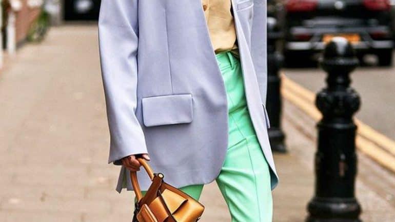 Paduan warna hijau muda