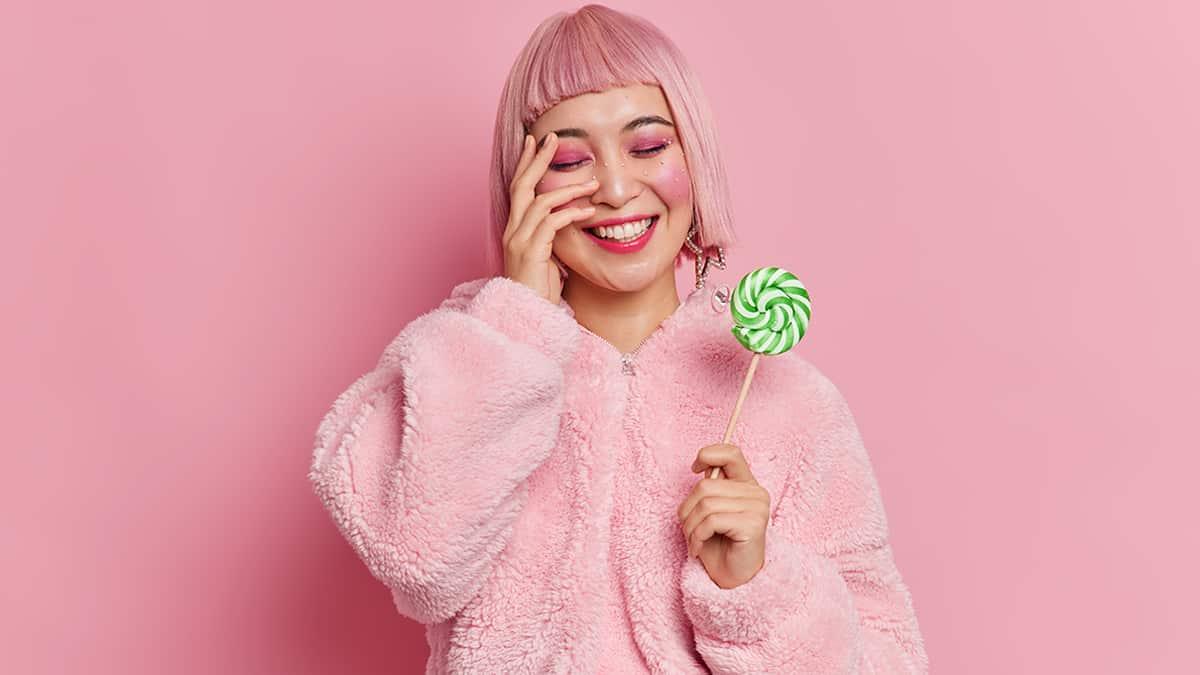 warna rambut pink
