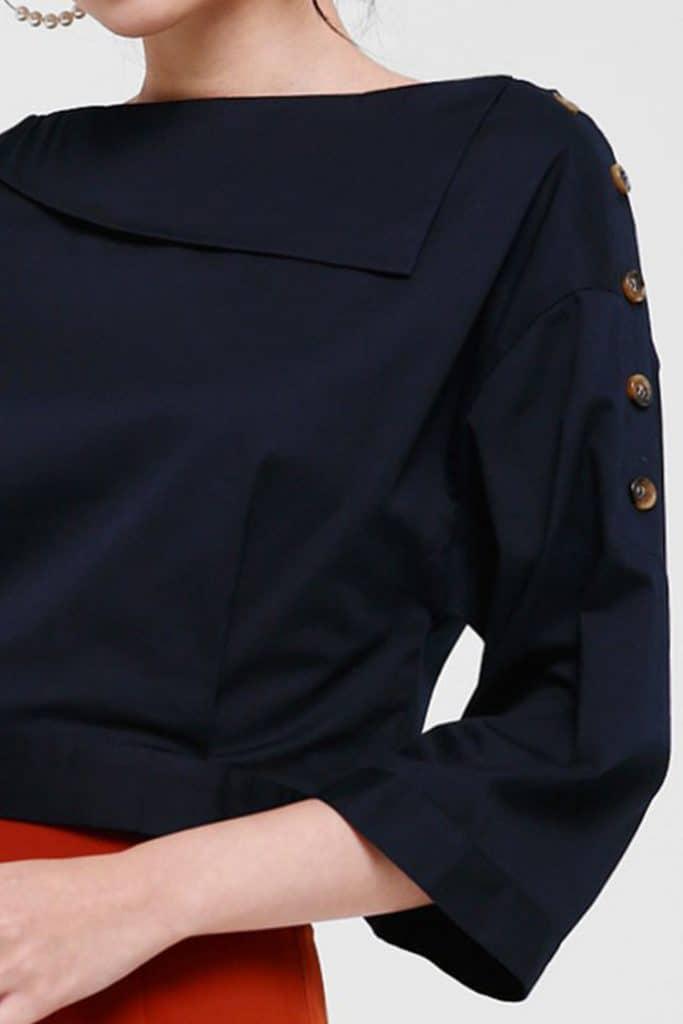 paduan warna navy